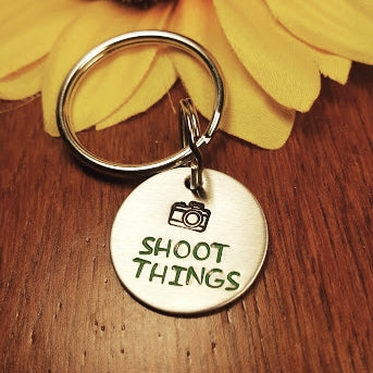 """Shoot things"" Keychain"