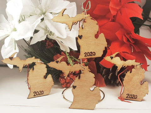 Michigan Personalized Ornaments