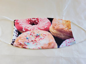 Donuts Adult Face Mask Organic Cotton
