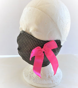 Pink Bow Cotton Mask