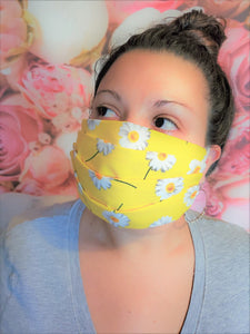 Yellow and White Daisies Mask
