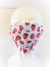 "Load image into Gallery viewer, ""Sweet Strawberries"" Mask"