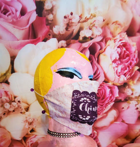 """Chingona"" Pink Lace Adult Face Mask Organic Cotton"
