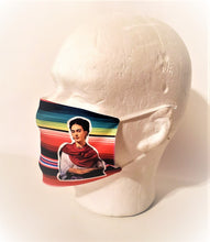 Load image into Gallery viewer, Frida Kahlo Zarape Adult Face Mask Organic Cotton