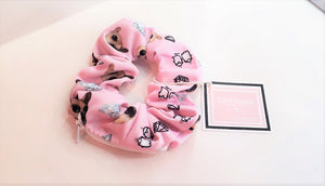 SCRUNCHY CUSTOM Personalized Zipper Storage Scrunchie Dog Face