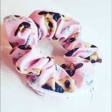 Load image into Gallery viewer, SCRUNCHY CUSTOM Personalized Zipper Storage Scrunchie Dog Face