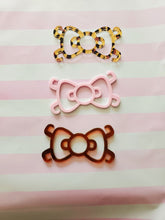 Load image into Gallery viewer, 3 Kitty Bow Ear Savers Mask Clips Face Mask Holders Mix