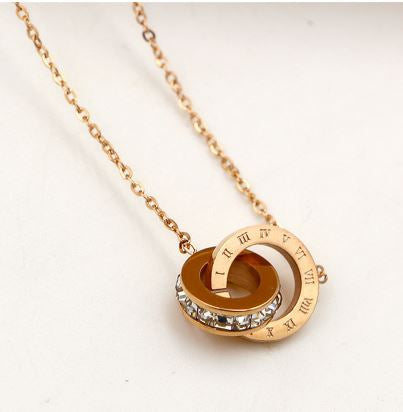 Roman Numeral Gold Necklace