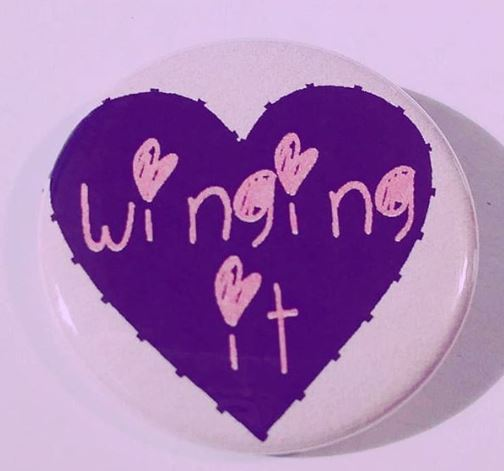 WINGING IT Pin Button 1.5