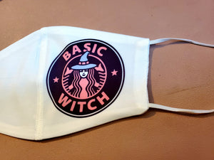 Basic Witch Adult Face Mask Organic Cotton