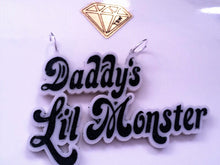 Load image into Gallery viewer, Daddy's Lil Monster Laser Cut acrylic necklace