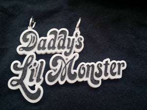 Daddy's Lil Monster Laser Cut acrylic necklace