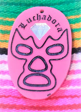 Load image into Gallery viewer, LUCHADORA Diamond Mask Pin