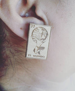 LOTERIA EL MUNDO Wood Earrings