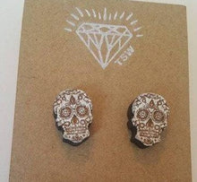 Load image into Gallery viewer, Calavera Skulls Stud Earrings