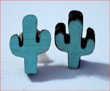 Load image into Gallery viewer, Minimal Cactus earrings