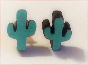 Minimal Cactus earrings