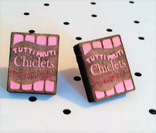 Load image into Gallery viewer, CHICLETS Wooden Laser Cut Hand Painted Stud Earrings