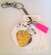 "Load image into Gallery viewer, NINA FRESA Laminated Purse or Planner Tag 3"" with Tassle"