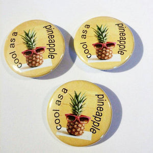1 COOL as a PINEAPPLE Pin Button 1.5""
