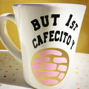 BUT 1st CAFECITO and CONCHITA Vinyl Decals Coffee Cup Decal 4""