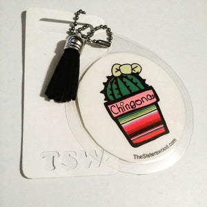 CHINGONA CACTUS Laminated Purse or Planner Tag