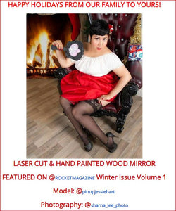 FEATURED in ROCKET MAGAZINE Laser Cut Wood Mirror