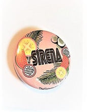 Load image into Gallery viewer, SIRENA TROPICAL PIN  Palm Tree Kiwi Button 1.5""