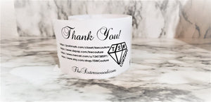 THANK YOU LABELS Thermal, Packing Stickers, Custom labels, Personalized labels, Product labels, website labels