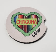 Load image into Gallery viewer, 2 CHINGONA Zarape Heart Car Coasters 1 Pair