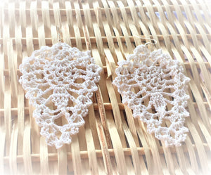 HAND CROCHET Tear Drop Earrings 2.5""