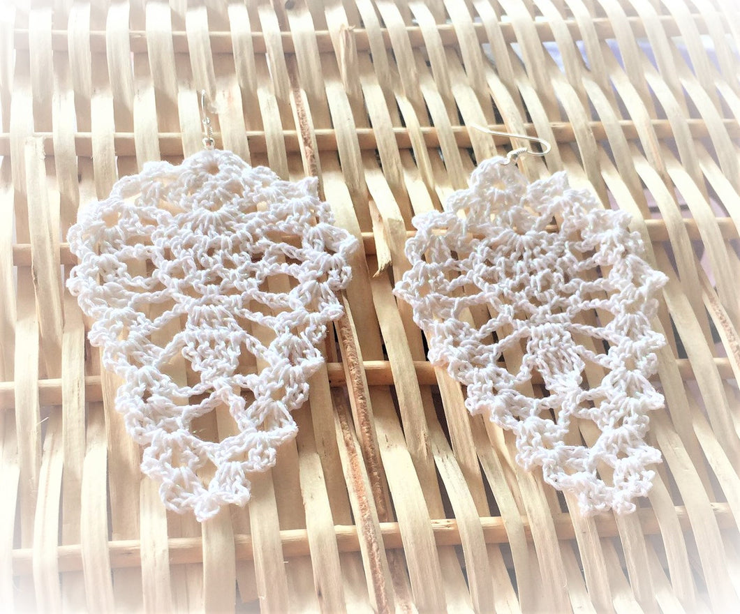 HAND CROCHET Tear Drop Earrings 2.5
