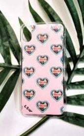 CHINGONA HEARTS Pink Car Cell Cover Iphone XS Max