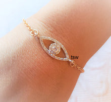 Load image into Gallery viewer, PROTECTION from EVIL EYE Blingy Rhinestone Bracelet