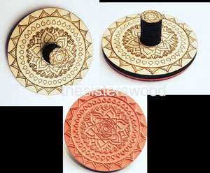 FLEXIBLE CUSTOM STAMP Laser Cut and Engraved Stamp