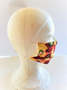 PIZZA MASK Print Adult Face Mask Double Layer