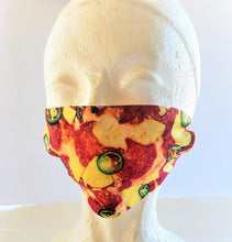 Load image into Gallery viewer, PIZZA MASK Print Adult Face Mask Double Layer