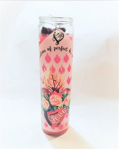 LOVE CANDLE SCENTED Red Prayer Candle Vela