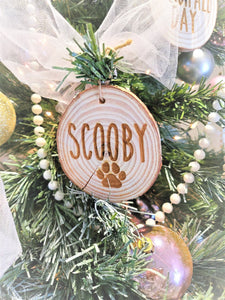 NAUGHTY AF Personalized Custom Ornament Family Name Wooden Ornament Christmas Tree Wood Slice Ornament
