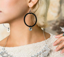 Load image into Gallery viewer, HEXNUT TINY HOOPS Laser Cut Dangle Earrings