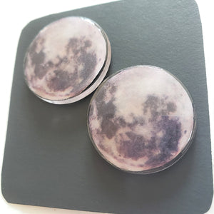 FULL MOON Domed Stud Earrings