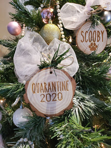 SLEIGH ALL DAY Personalized Custom Ornament Family Name Wooden Ornament Christmas Tree Wood Slice Ornament