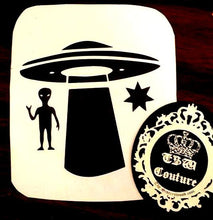 Load image into Gallery viewer, CUSTOM VINYL Decal Design Choose your Colors and Design UFO, Star and Alien