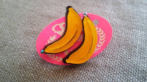 GLITTERY BANANA Earrings
