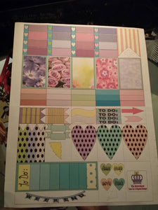 "43 Laser Kiss Cut Stickers for Classic 1.5x2"" MAMBI The HAPPY Planner 8.5x11"" spread Organizer Stickers"
