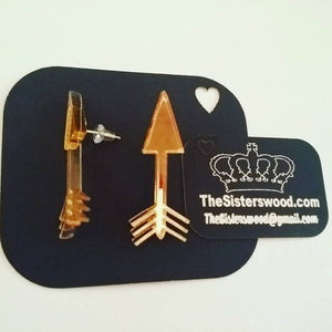 ARROW Gold mirror Earrings