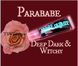"""Parababe"" Deep Dark Witchy Red Hemp Infused Lipgloss"
