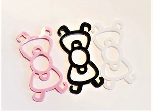 3 Kitty Bow Ear Savers Mask Clips