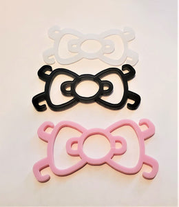 3 Kitty Bow Ear Savers Mask Clips Face Mask Holders Mix
