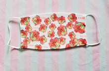 Load image into Gallery viewer, TSW Pink Roses Print Adult Face Mask Organic Cotton
